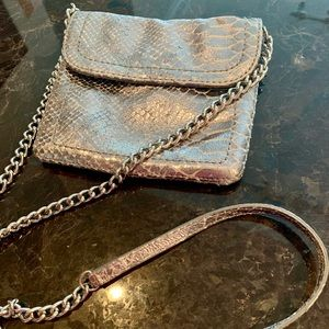 Banana Republic Faux Metallic Leather Python bag